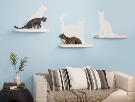 Cat Silhouette Cat Wall Shelves from The Refined Feline