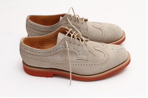 Mark McNairy New Amsterdam — STONE SUEDE LONGWING BROGUE