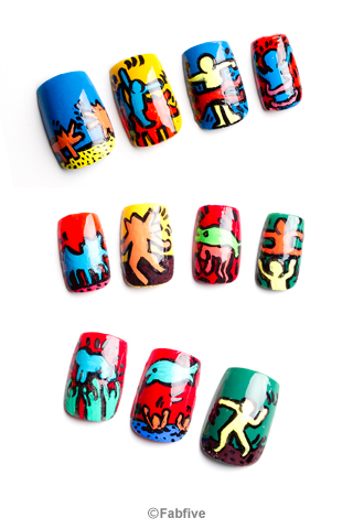 Keith Haring Nail Tips by Nevertoomuchglitter - Fabfive ファブファイブ