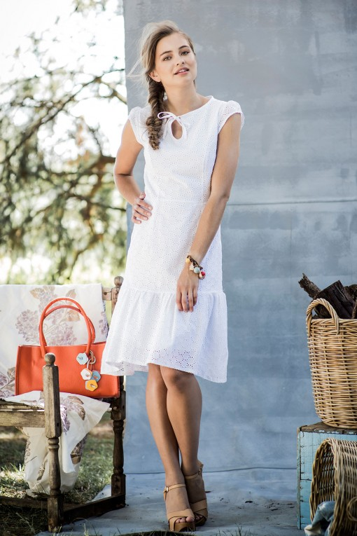 Eyelet Cotton Morning Dew Dress from the Aussie Afternoon Collection by Shabby Apple