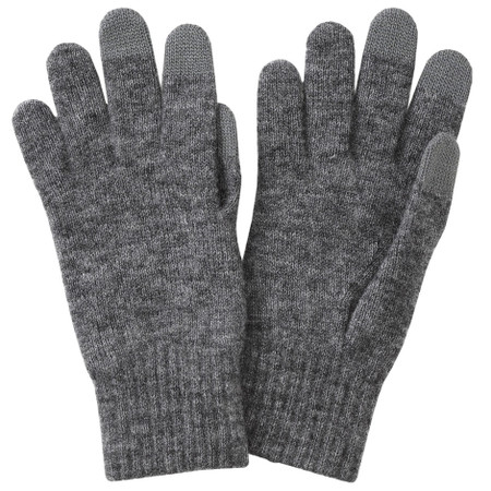 Wool Mix Brushed Touchscreen Gloves