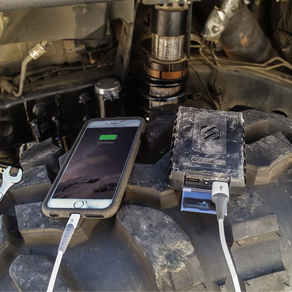 Rugged USB Battery Pack | GoBat™ 12000 | by Scosche
