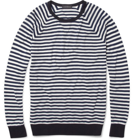John Smedley Dominic Striped Cotton Sweater | MR PORTER