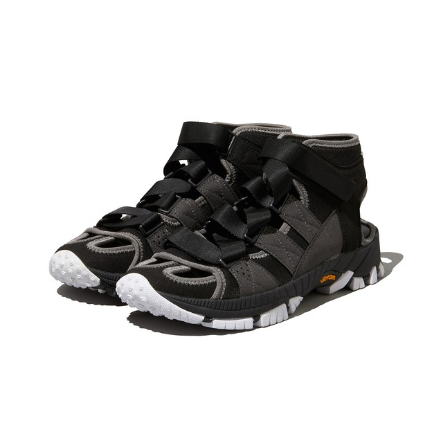 VIBRAM SOLE CONTRASTED SANDAL - BLACK   White Mountaineering Online-Store
