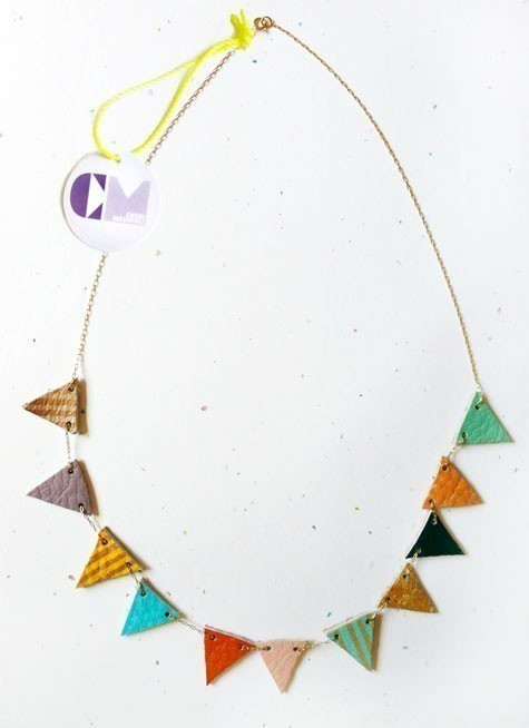 Multicolor Flag Necklace by scoutholiday on Etsy