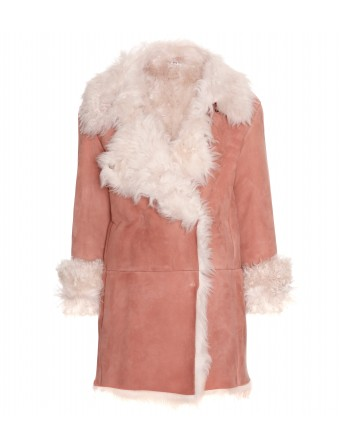 mytheresa.com - Miu Miu - SHAGGY SHEARLING COAT - Luxury Fashion for Women / Designer clothing, shoes, bags