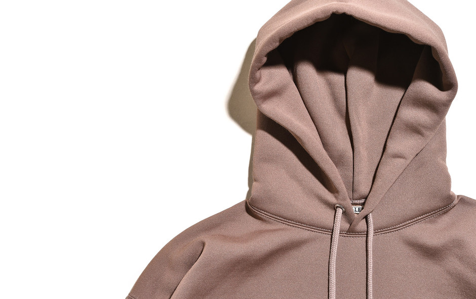 Baggy Polyester Sweat P/O Parka-Brown