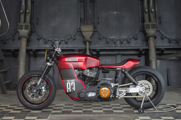 Electra Glide In Red: Tricana's 'Hot Racer' Harley FLH | Bike EXIF