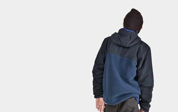 Patagonia/Men's Shelled Synchilla Snap-T Hoody-BLK