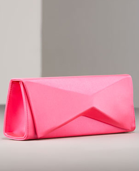≫ Christian Louboutin Sculptural Satin Clutch | Handbag du Jour-Designer Handbags & Purses Blog featuring Celebrity Bags, Editorials, News & Reviews and Luxury and Emerging Designer Interviews