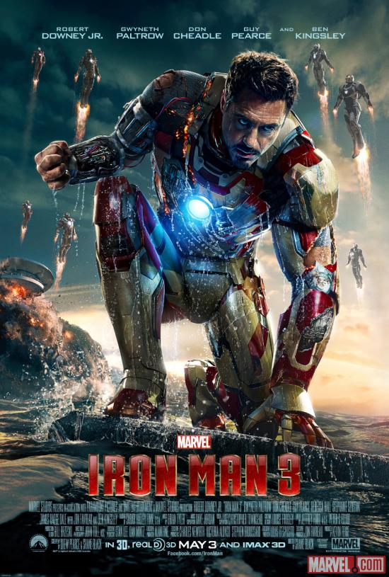 Robert Downey, Jr. takes the stage in a new poster for Marvel's Iron Man 3 | Apps | Marvel.com