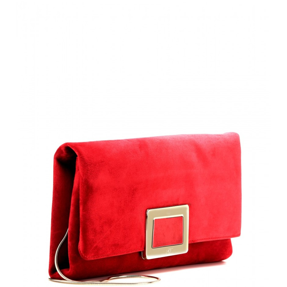 mytheresa.com - Ines suede clutch - Clutch bags - Bags - Luxury Fashion for Women / Designer clothing, shoes, bags
