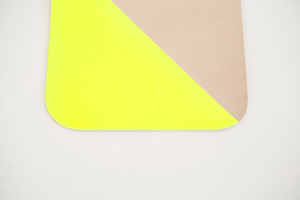 Moccasins for Kids, Babies, Handmade Moccasins, Mason and Kourtney Kardashian - Freshlypicked — Leather Mouse Pad in Neon Yellow