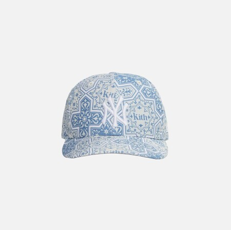 Kith for New Era & New York Yankees Moroccan Tile Low Crown Cap - Canvas / Multi