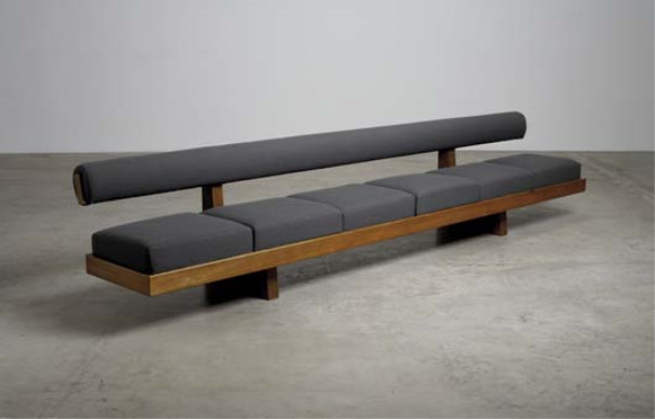 PHILLIPS : UK050108, Charlotte Perriand, 'Sandoz' bench, from Sandoz Pharmaceutical Laboratories, Rueil Malmaison, France