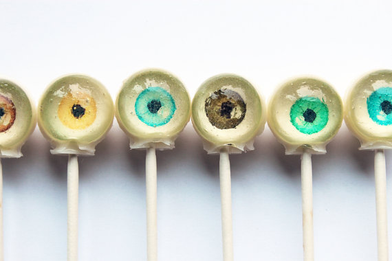 Eyeball hard candy edible images lollipop 6 by VintageConfections
