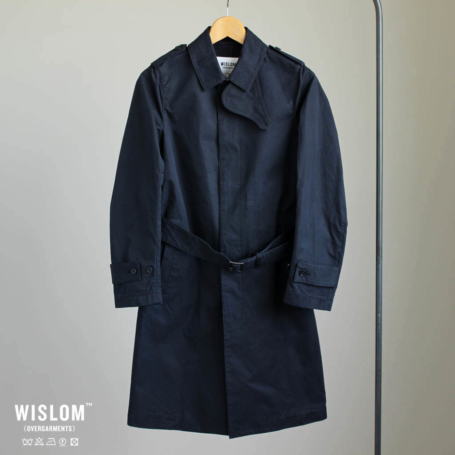 WISLOM - Anna - TRENCH COAT #d.navy/ristretto
