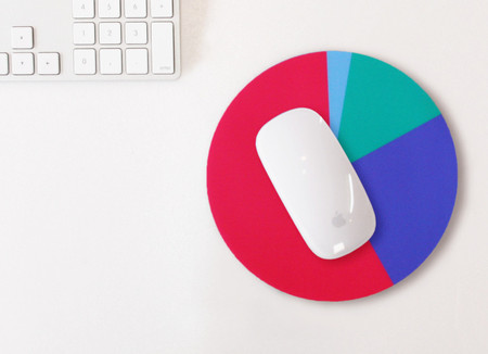 Pie chart Mouse pad (Pink)