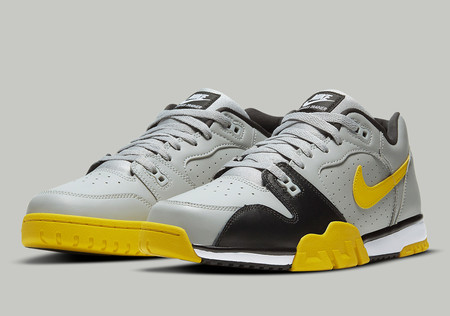 Air Cross Trainer Low - Light Smoke Grey/Black/White/Speed Yellow