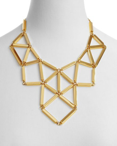 Add On Items / Kate Spade Turn The Corner Statement Necklace 18 in Gold | Lyst