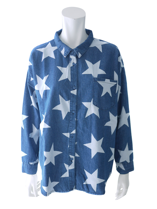 CHEEKY::STAR DENIM SHIRT (CLEOPATRA)||OnEshop
