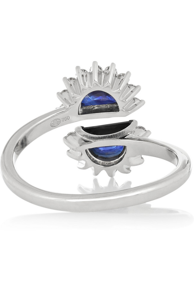 Maison Martin Margiela Fine Jewelry | Pompadour 18-karat white gold, sapphire and diamond ring | NET-A-PORTER.COM