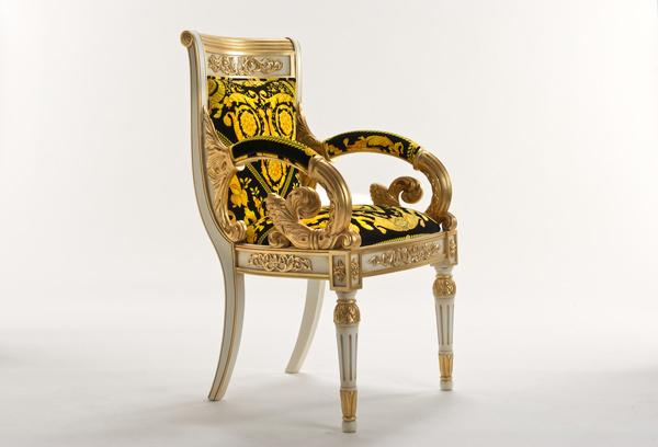 Vanitas armchair black - E-Shop Versace Home Collection