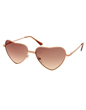 ASOS | ASOS Heart Shape Sunglasses at ASOS