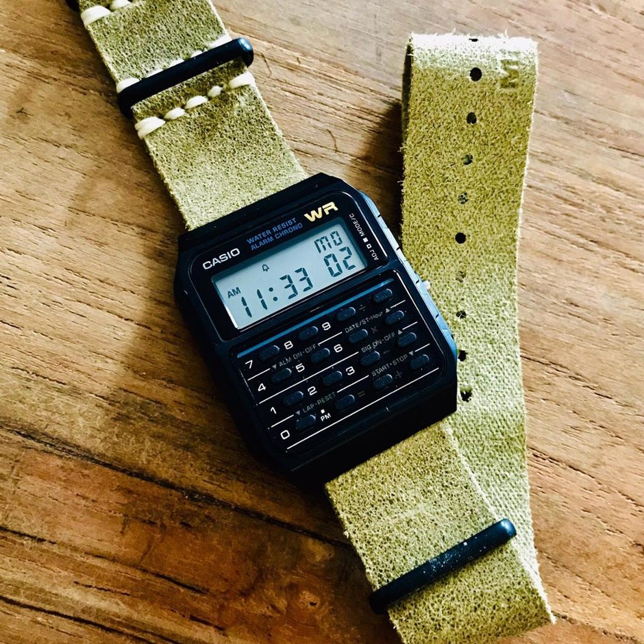 Marty McFly's Casio on a leather nato strap! #casio #strapcode