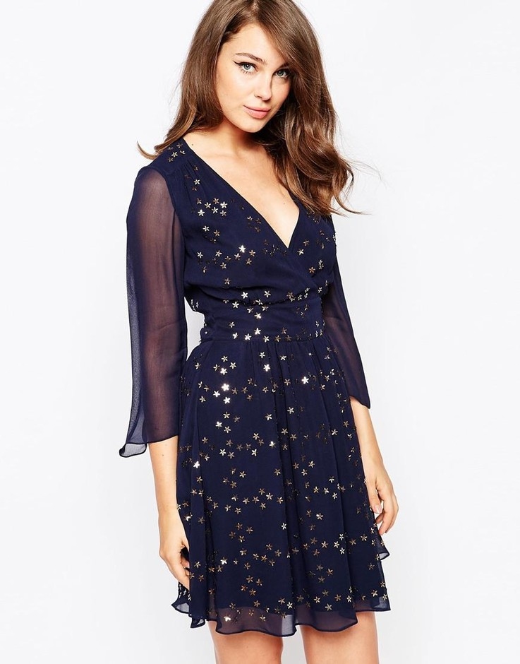 French Connection | French Connection Million Stars Embellished Dress at ASOS