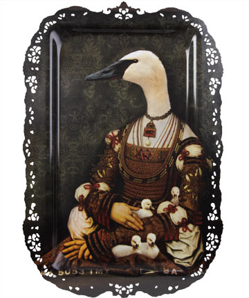 Bianca Goose and Goslings Tray, Ibride