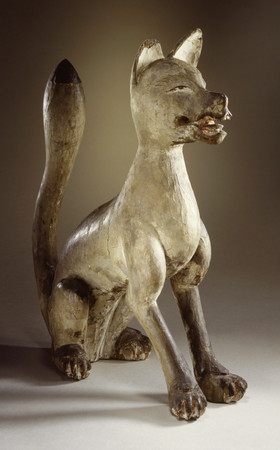 Shinto Sculpture in the Shape of a Seated Fox