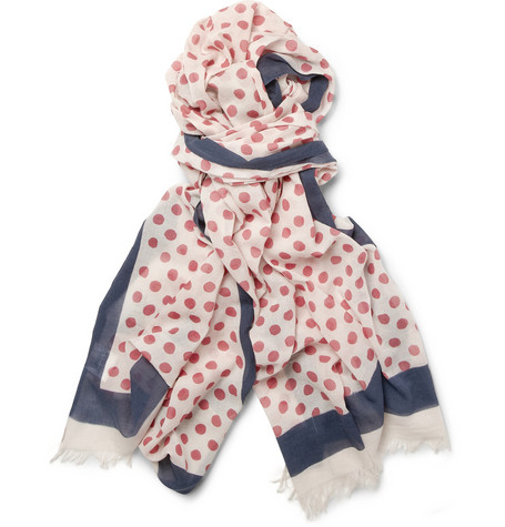 Hartford Polka-Dot Cotton Scarf | MR PORTER