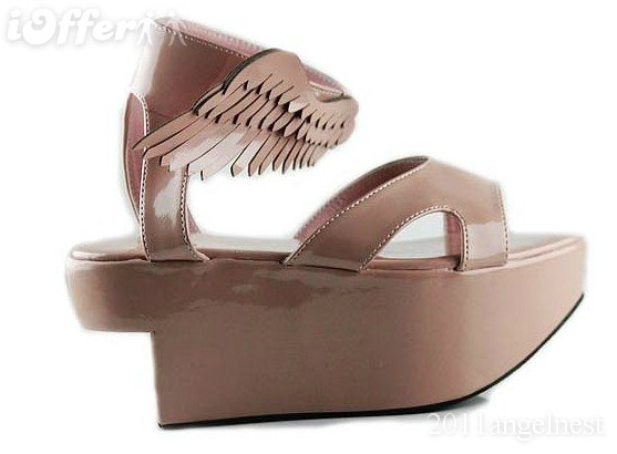 販売 NEW Noble wedges 3color angel wing women Sandals 35-39