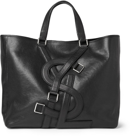 Yves Saint Laurent Logo Strap Leather Tote Bag | MR PORTER