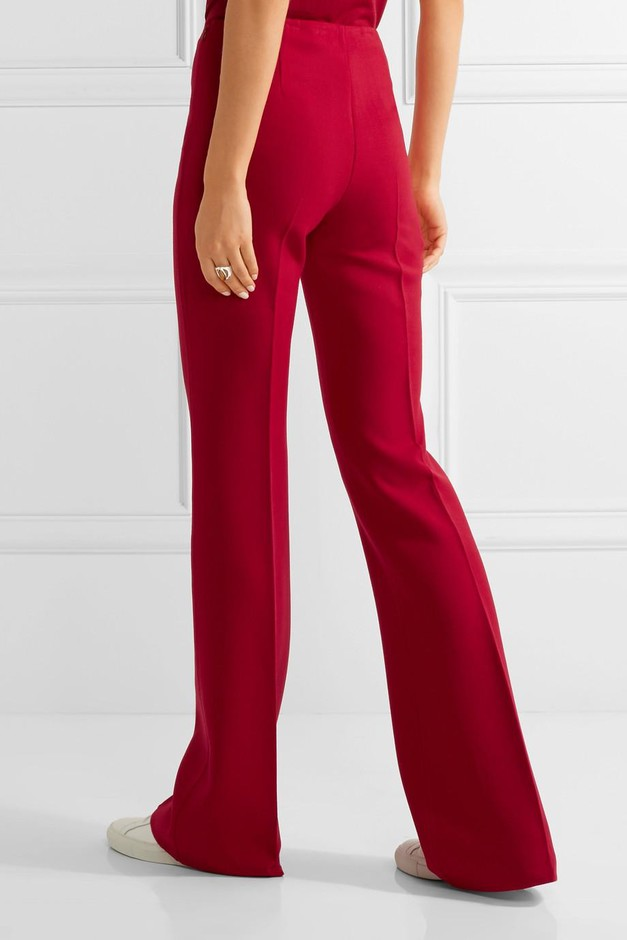 Theory | Demitria stretch-wool flared pants | NET-A-PORTER.COM