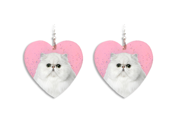 Kitty Heart Earrings - Locketship