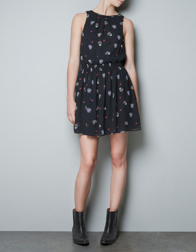 SKULL PRINTED DRESS - Dresses - TRF - ZARA Japan