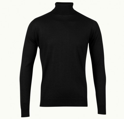 Judson In Black, Pullover Made From Cashmere & Silk   John Smedley Official Store