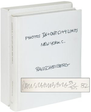 Royal Books   Robert Rauschenberg   Photos In + Out City Limits New York C. Signed Limited Edition   First Edition