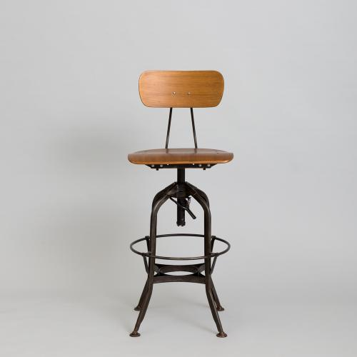 COMPLEX/商品詳細 TOLEDO CHAIR swivel high chair dark rust
