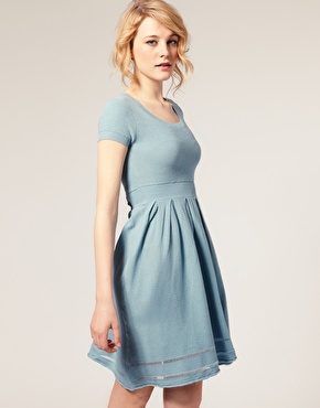 ASOS エイソス '50s Knitted Dress ブルー - ASOS(エイソス)専門店 ASOSオンリードットコム