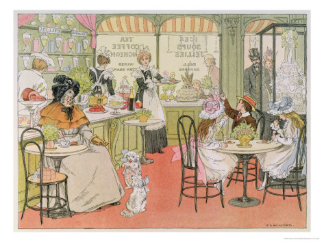 The Tea Shop, from The Book of Shops, 1899 Giclee Print by Francis Donkin Bedford at AllPosters.com