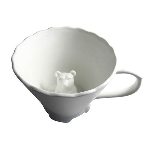 Hidden Animal Teacup- Bear by Imm Living - Seltzer Studios - online boutique for unique home decor, gifts and accessories