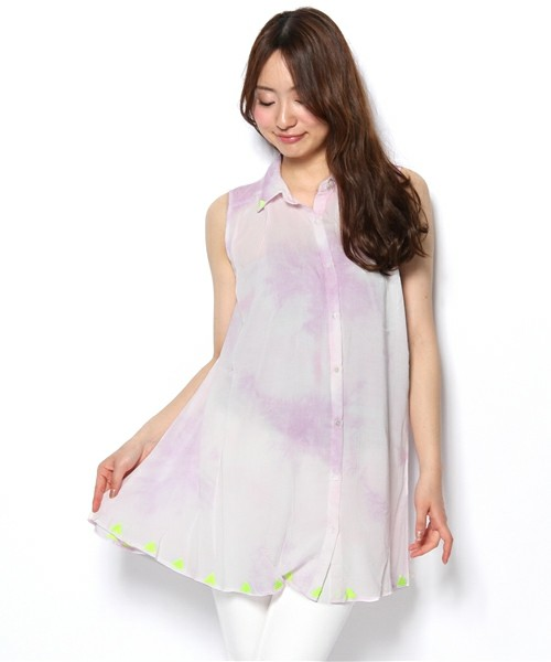 ROSE BUD(ローズバッド) | LBL-13137 SLEEVE-LESS GATHERED TUNIC BLOUSE(チュニック) - ZOZOTOWN