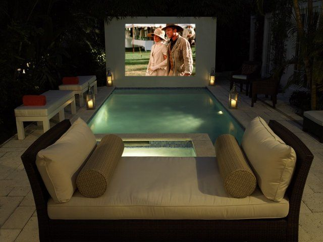 Movies from the pool? Yes Please!   Relax   Pinterest