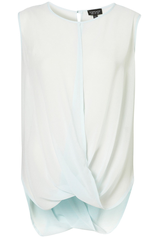 Sleeveless Drape Front Top - Tops - Apparel - Topshop USA