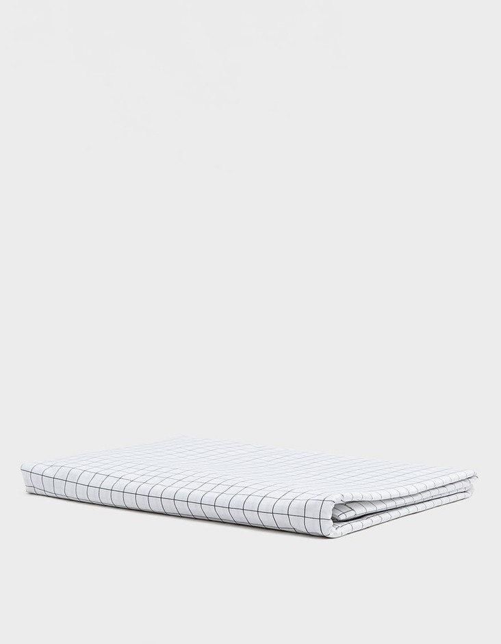 Classic King/Cali King Duvet Cover in Graphite Grid