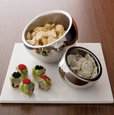 Stainless Steel Snack Bowls from CB2 | Apartment Therapy