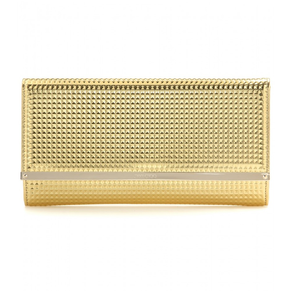 mytheresa.com - Maia metallic leather clutch - Clutch bags - Bags - Jimmy Choo - Luxury Fashion for Women / Designer clothing, shoes, bags